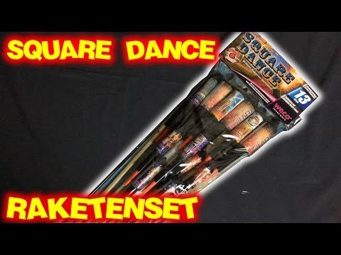 WECO SQUARE DANCE | Raketensortiment | 13 Raketen für vor 0 Uhr
