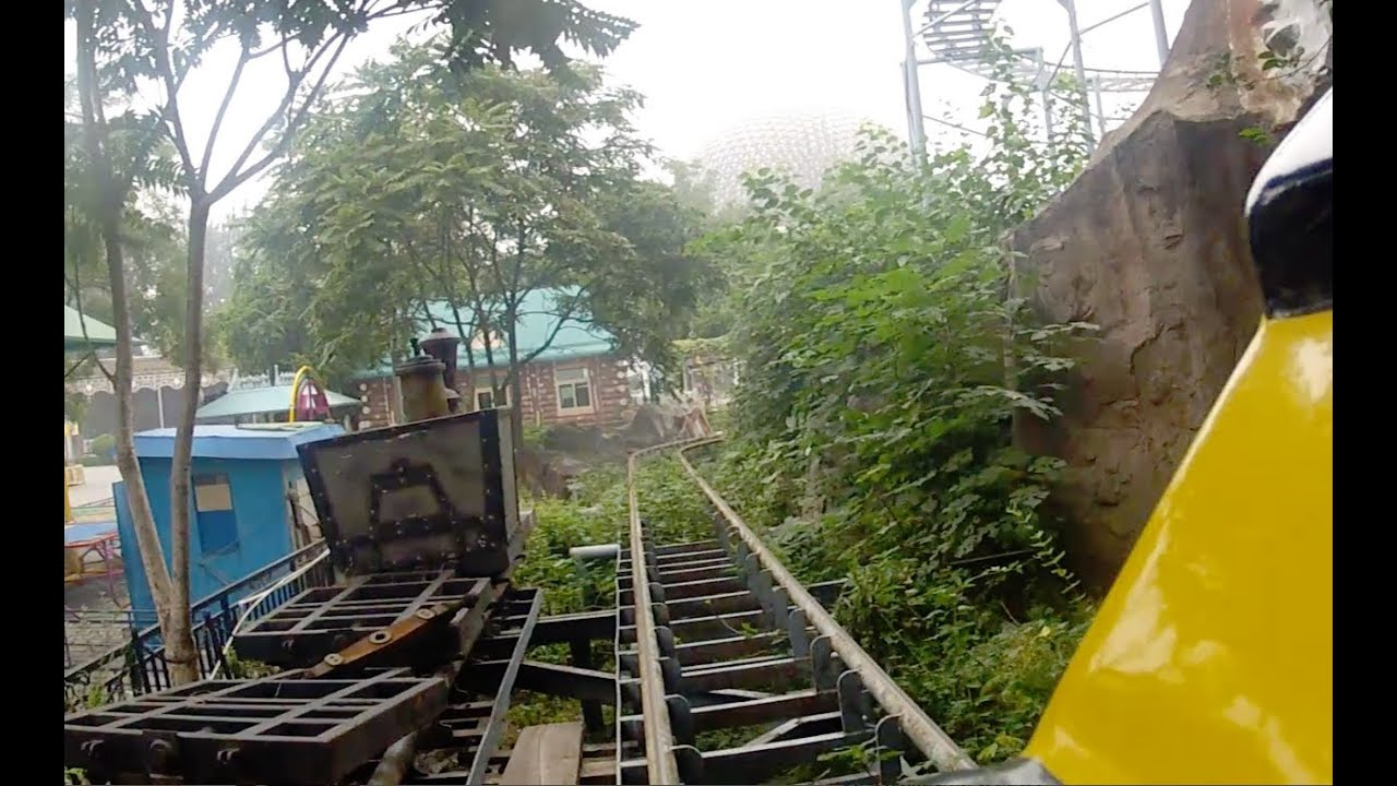 Dilapidated Chinese Mine Train Roller Coaster Pov Beijing