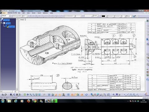 Catia V5 Drafting|Automatic View Creation Wizard|Views Link & Clear Preview|Beginner's Tutorials