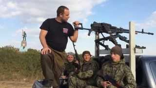 P Gubarev on Novorossian pickup with NSV machine gun | Ukriane