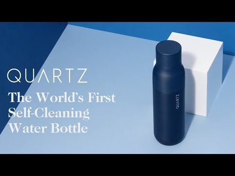 QUARTZ Bottle - Water Purification in a Self-Cleaning Bottle New Technology Tech World