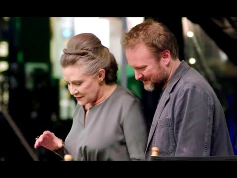 Carrie Fisher Tribute The Last Jedi Behind The Scenes Footage