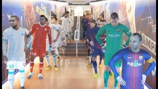 Olympique de Marseille vs FC Barcelona PES 2018 Difficulté Superstar Gameplay PC
