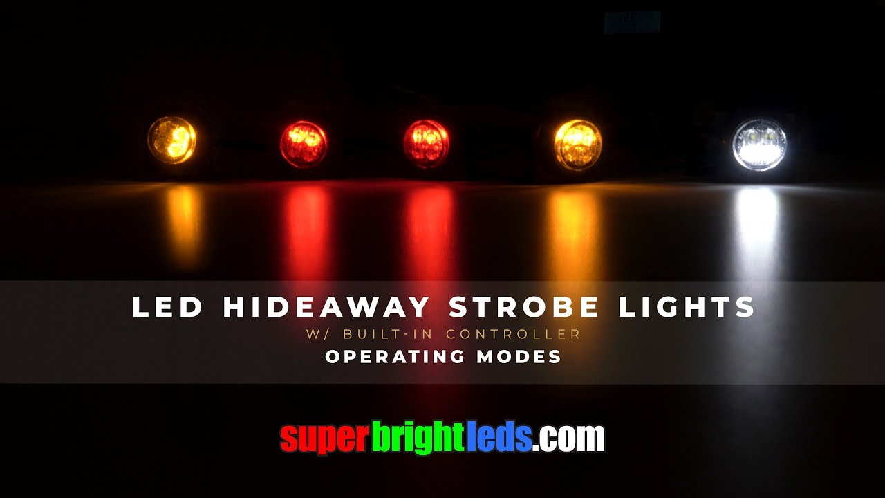 2in1 12 LED Hide Away Emergency Patrol Truck Vehicle Warning Strobe Lights Blue
