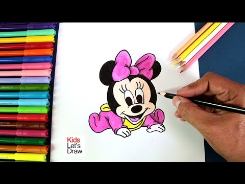 C mo dibujar a bebe minnie mickey mouse how to draw baby minnie mouse youtube - Minnie y mickey bebes para colorear ...