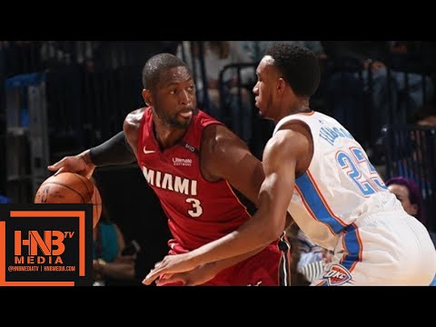 Oklahoma City Thunder vs Miami Heat Full Game Highlights  March 23  201718 NBA Season