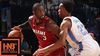 Oklahoma City Thunder vs Miami Heat Full Game Highlights / March 23 / 2017-18 NBA Season