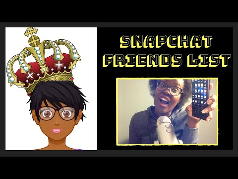 How to find full friends list on snapchat