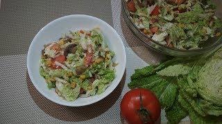 Салат с пекинской капустой и шампиньонами