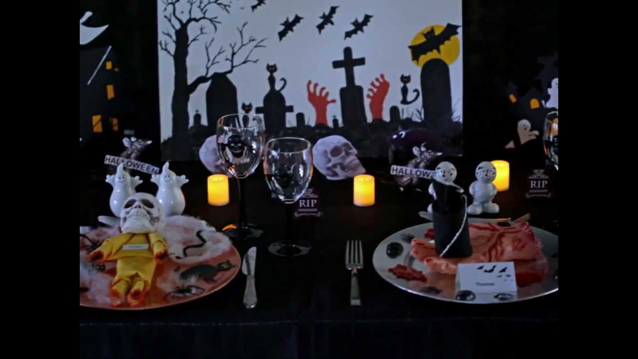 napkin folding halloween scariest table