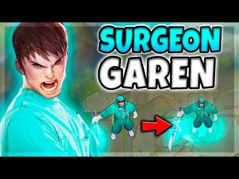 SURGEON GAREN SKIN SPOTLIGHT! AMAZING LOOKING PARTICLE CHANGES ON ALL SPELLS! - League of Legends