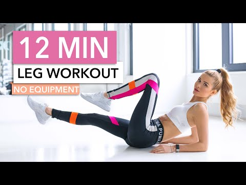 12 MIN LEG WORKOUT - Butt, Thighs & Calves // No Equipment I