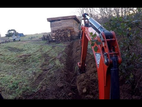 DIY Micro Hydro part 12 Laying armoured cable