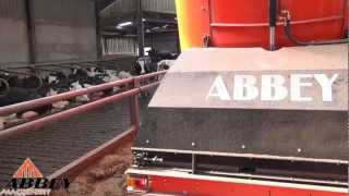 Abbey Machinery Rear Cross Elevator PVC Type behind Massey Ferguson  390T