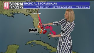 Tracking Isaias: Knocked Down To Tropical Storm, Expected To Reach Hurricane Strength Again