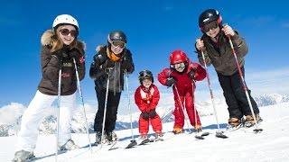 видео Как поставить ребенка на горные лыжи