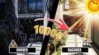TERRASSE mit 1000€ zum SOMMERPARADIES machen! PIMP my Terrasse!