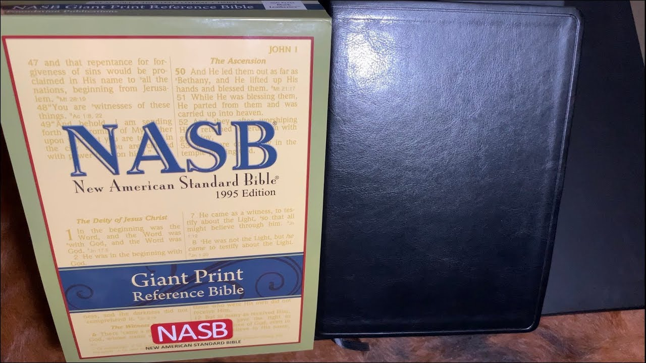 Nasb Giant Print Leather Bible Review 4k Youtube