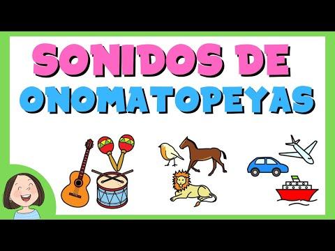 Sonidos De Onomatopeyas Para Niños Ejercicios