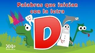 palabras que inician con la letra d en español para niños videos aprende