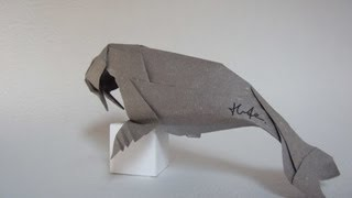 How to fold Origami Walrus 摺紙海象教學 ( Kade Chan )