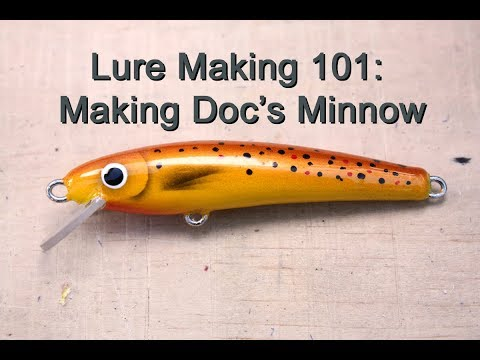 How To Make A Simple Balsa Crankbait - YouTube