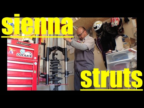 [detailed] Front Struts Replacement Toyota Sienna √ Fix it Angel