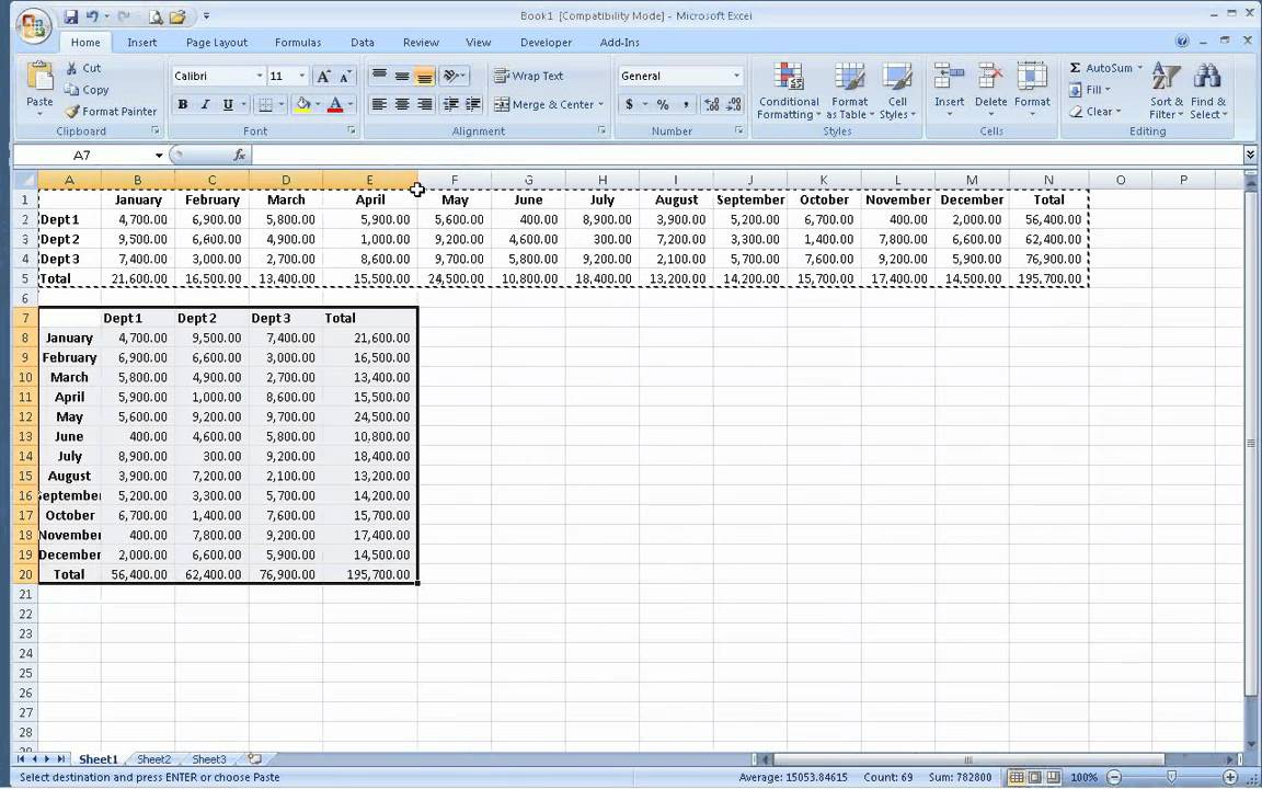 Switching Columns and Rows in Excel using transpose