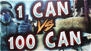 1 CAN VS 100 CAN MERTCAN BENİ YENDİMİ ? (CS:GO)