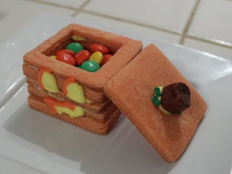 3D Minecraft jack o' lantern Cookie - Quake N Bake - YouTube