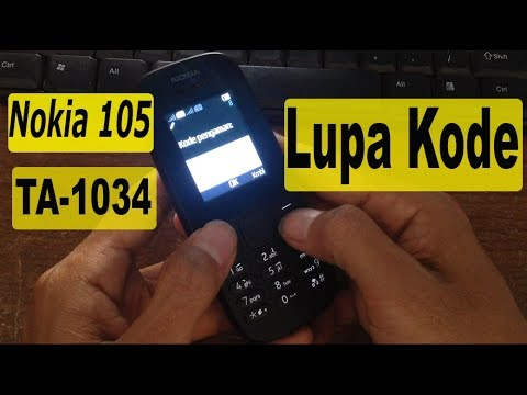 Remove security code Nokia 105 TA-1034.