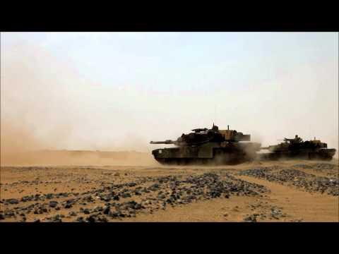 U.S. Marine Tank Platoon Fires Explosive Rounds in Kuwait - Udairi Range
