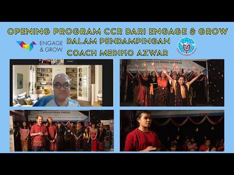 Opening Program CCR dari Engage & Grow dalam Pendampingan Coach Mediko Azwar