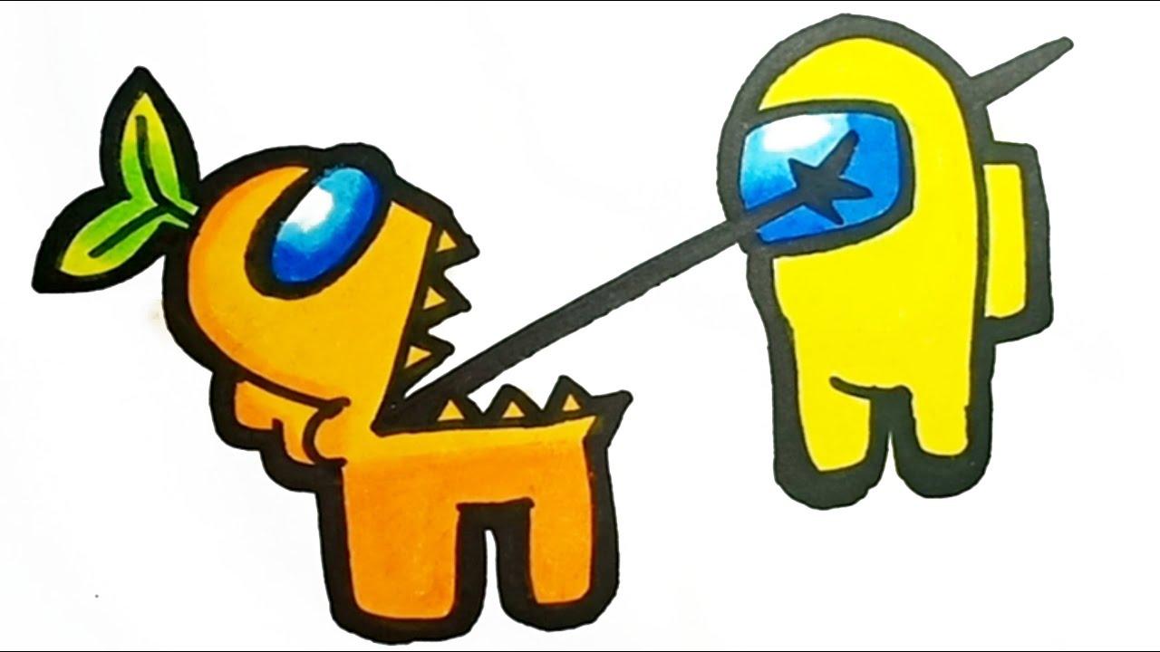 Download How To Draw Among Us Impostor Vs Crewmate Very Easy | Cara Menggambar Among Us Impostor Vs Crewmate