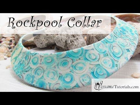 Polymer Clay Project: Rockpool Collar Tutorial