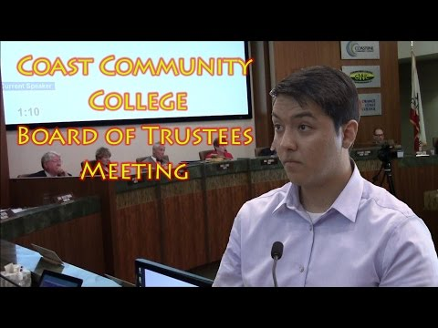 Coast Community College Board of Trustees Meeting (Unedited)