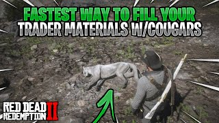 Fastest Way To Fill Your Trader Materials (Cougars)!! Red Dead Online! (RDR2)