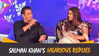 Salman Khan's Hilarious Replies at Munna Badnaam Hua Song Launch   Dabangg 3   Saiee Manjrekar