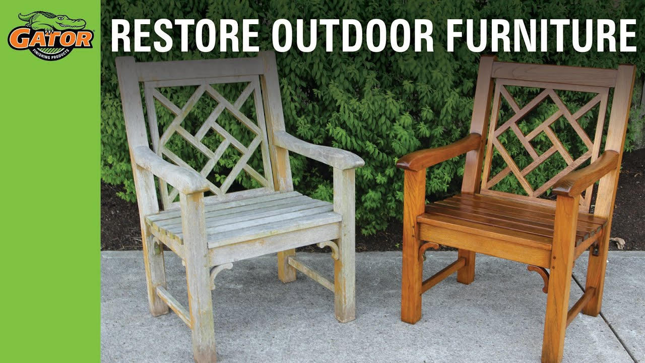 How to Restore Weathered Outdoor Furniture - YouTube