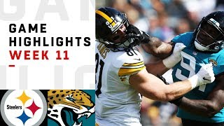 Steelers vs. Jaguars Week 11 Highlights | NFL 2018