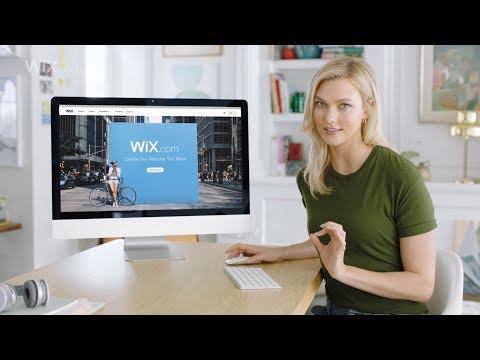 Wix.com  Karlie Kloss cập nhật trang web Wix chuyên nghiệp của cô