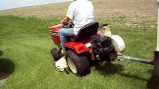 for sale ih 682 cub cadet with e z rake lawn blower vacuum and ford collector cart