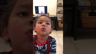 TODDLER LEARNING HOW TO WHISTLE   FIRST TIME 4 YEARS OLD GET SO EXCITED