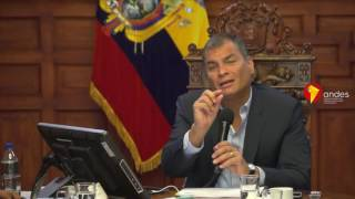Correa sobre dinero electrónico: