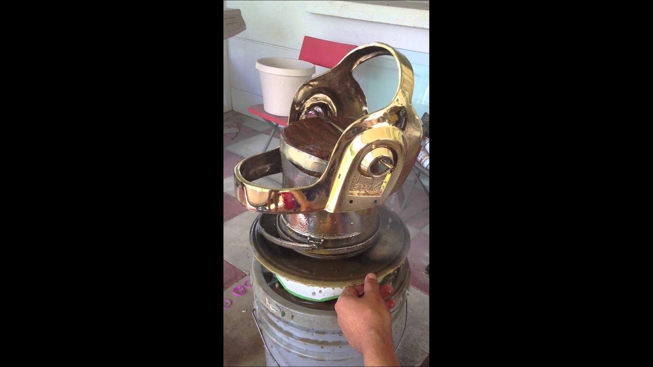 DIY chroming a daft punk helmet - YouTube