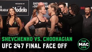 Valentina Shevchenko vs. Katlyn Chookagian Final Face Off | UFC 247 Ceremonial Weigh-Ins