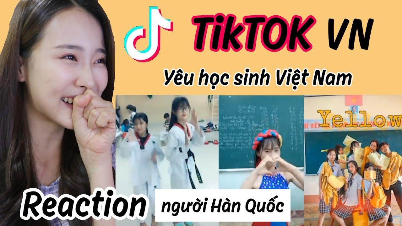 [Reaction] TikTok học sinh Việt Nam ! Người Hàn xem TikTok Việt Nam
