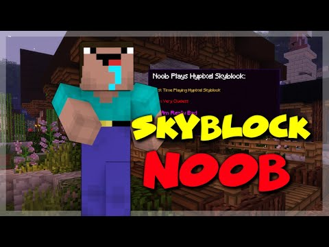 Playing As A Hypixel Skyblock NOOB (SKYBLOCK EP. 1)