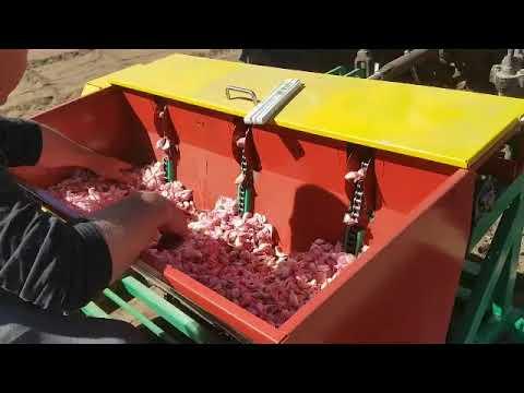 3 Rows Automatic Garlic Onion Saffron Planter