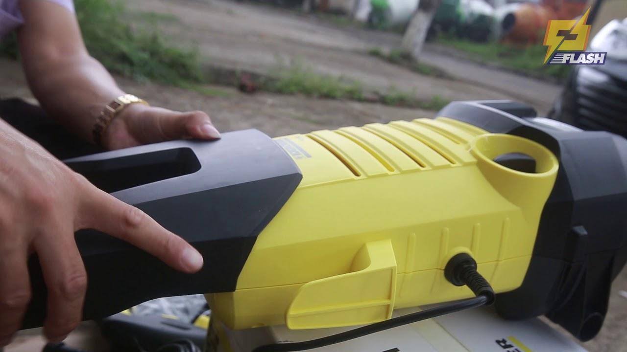 Đập hộp máy rửa xe Karcher K2 360 cho gia đình, áp lực mạnh, dễ dàng rửa cáu bẩn cứng đầu